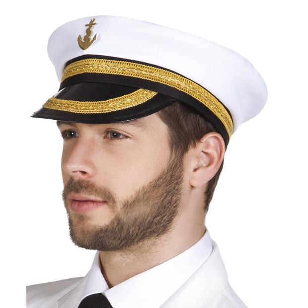 Boland pet Kapitein Nicholas heren wit one size