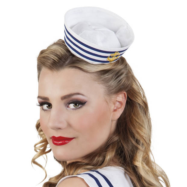 Boland tiara Navy Sailor dames wit one size