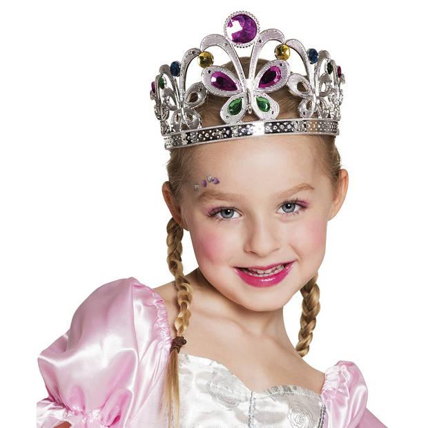 Boland kinderkroon Amelia meisjes zilver one size