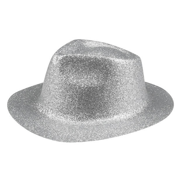 Boland hoed Sparkle unisex zilver one size