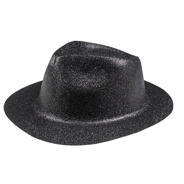 Boland hoed Sparkle unisex zwart one size