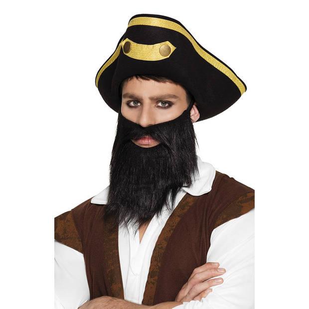 Boland baard Piraat heren zwart