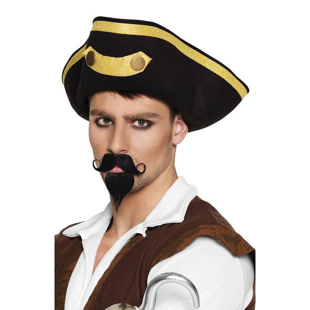 Boland snor en sik Kapitein heren zwart
