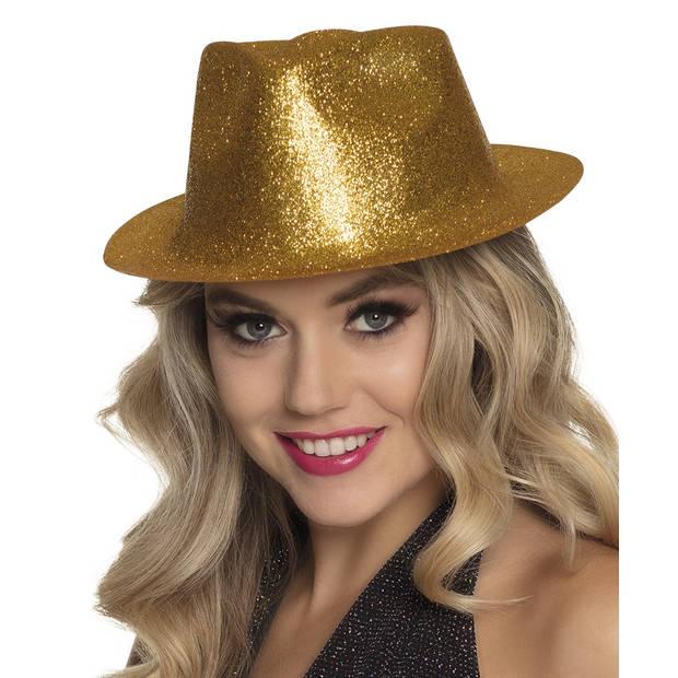 Boland hoed Sparkle unisex goud one size