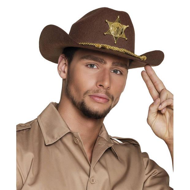 Boland hoed Deputy Sheriff heren bruin one size