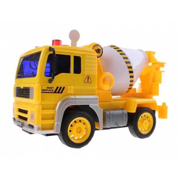 Jonotoys betonmolen jongens 12 cm geel