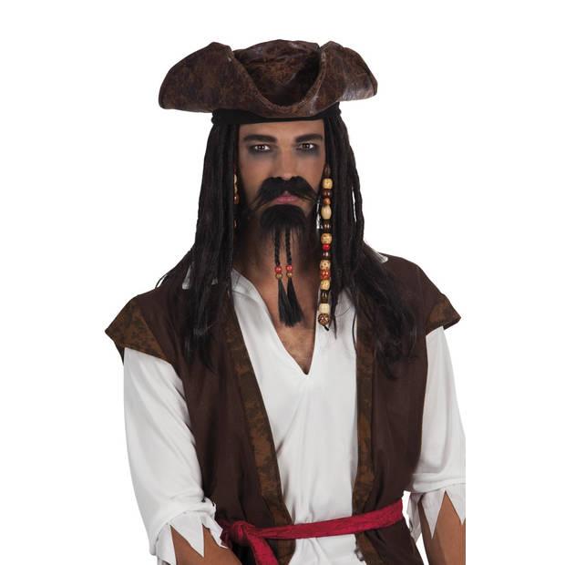 Boland snor en sik Piraat heren zwart