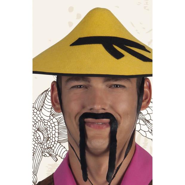 Boland snor Chinees heren zwart