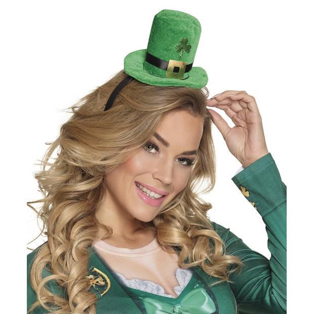 Boland tiara Shamrock dames groen one size