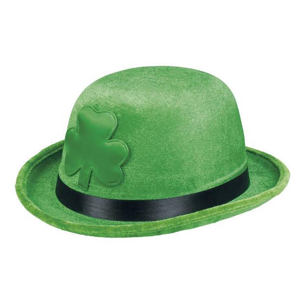 Boland hoed Shamrock Bowler unisex groen one size