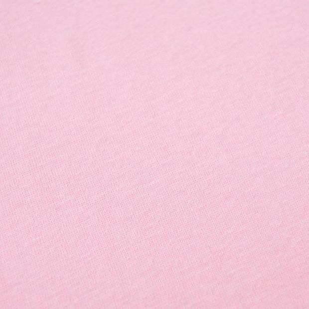 Snoozing - Flanel - Laken - Eenpersoons - 150x260 - Roze