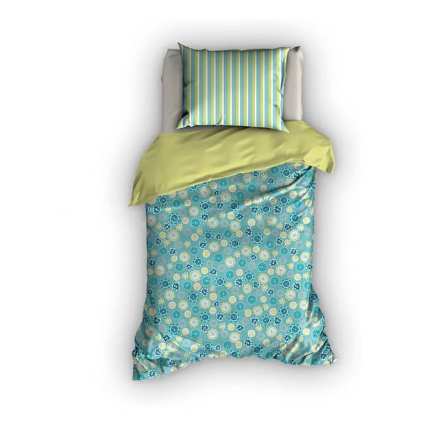 Duimelot Sterre dekbedovertrek - 100% katoen - Junior (120x150 cm + 1 sloop) - 1 stuk (60x70 cm) - Blauw