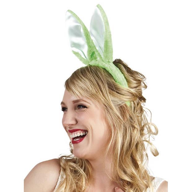 Boland tiara Konijnenoren dames groen one size