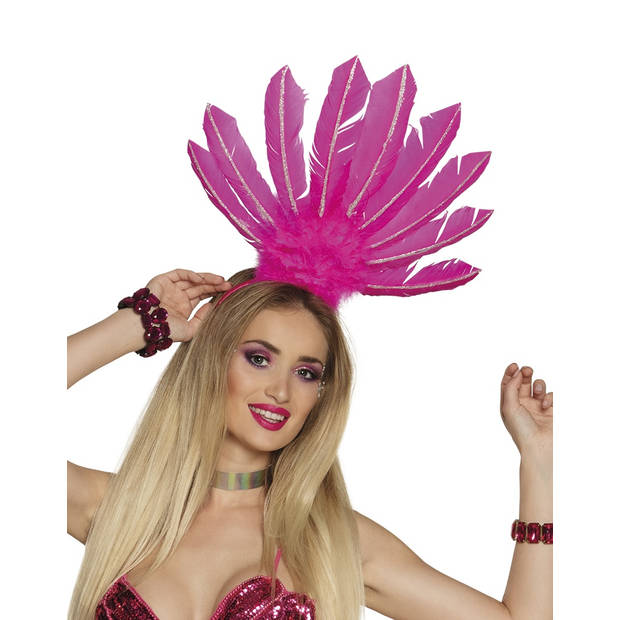 Boland tiara Samba dames roze one size