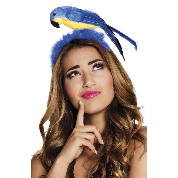 Boland tiara Papegaai dames blauw one size