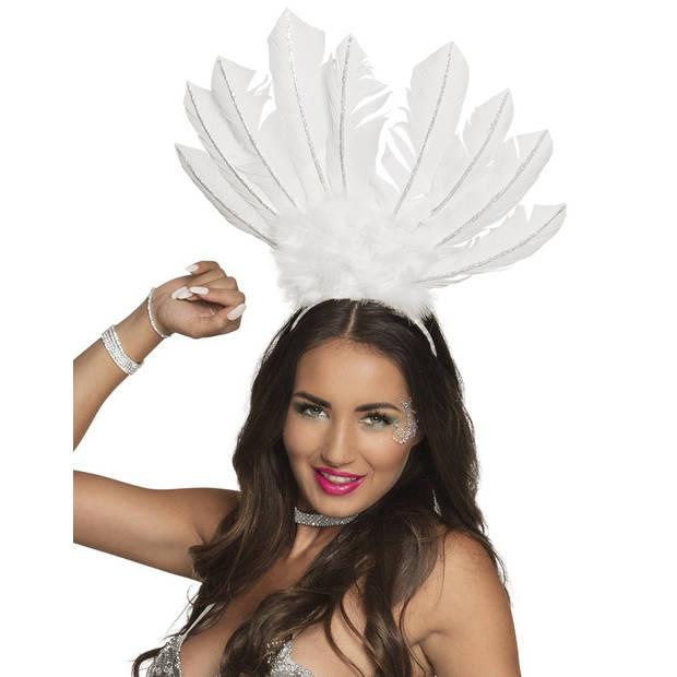 Boland tiara Samba dames wit one size