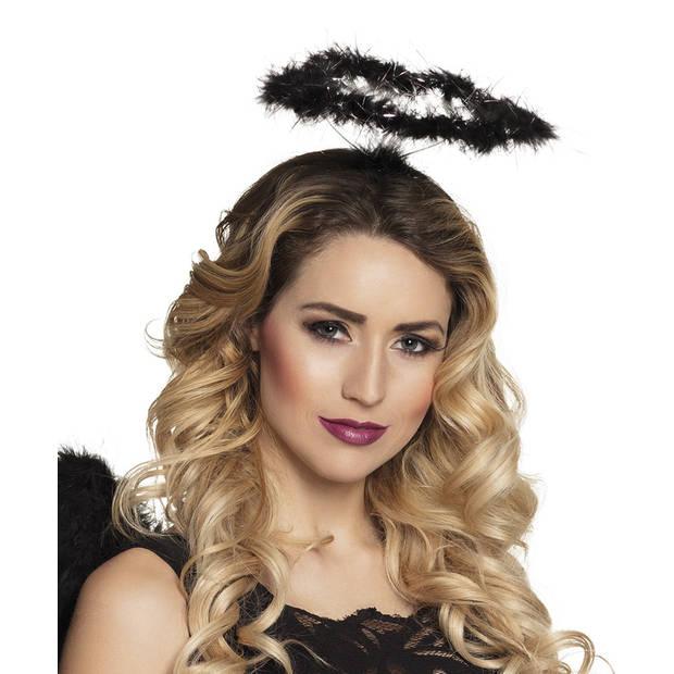 Boland tiara Halo dames zwart one size