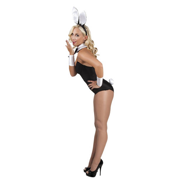 Boland accessoiresset Bunny dames wit one size