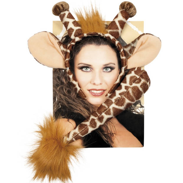 Boland accessoiresset Giraffe dames bruin one size