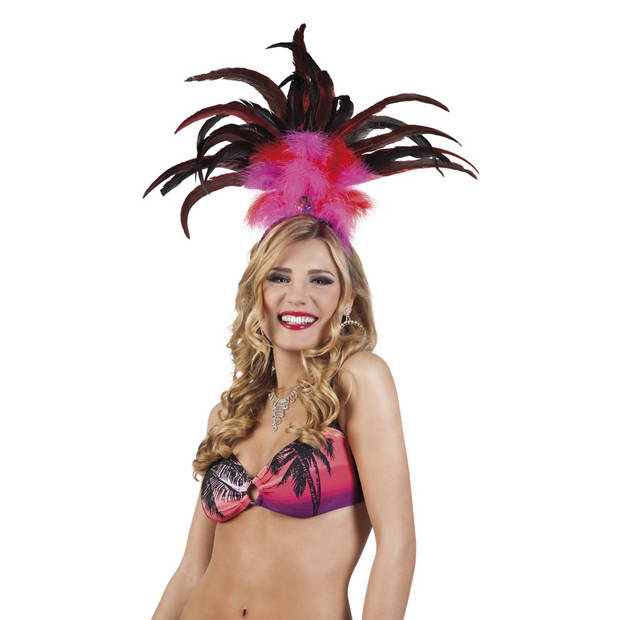 Boland tiara Rio dames roze one size