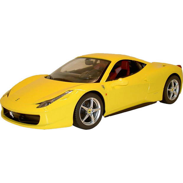 Rastar RC Ferrari 458 Italia 18 cm schaal 1:24 geel