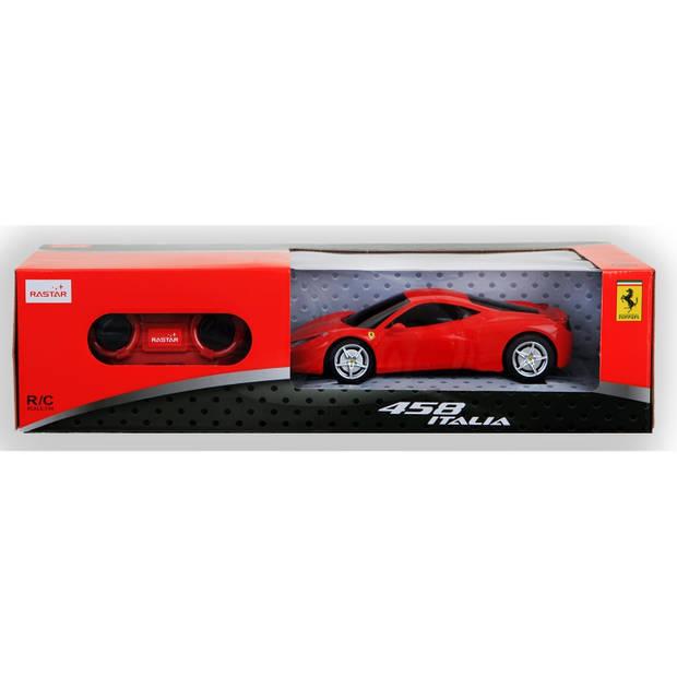 Rastar RC Ferrari 458 Italia 18 cm schaal 1:24 rood