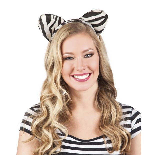 Boland tiara Wildlife Zebra dames one size
