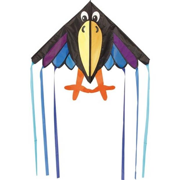 Invento eenlijnskindervlieger Delta Charly 134 cm zwart