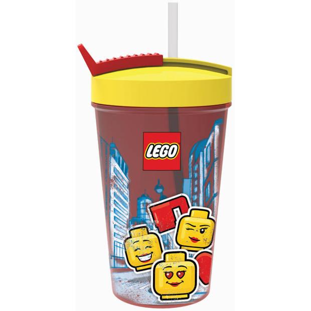 LEGO drinkbeker met rietje Iconic girl
