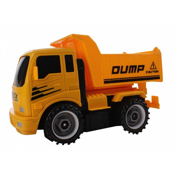 Jonotoys werkverkeer vrachtwagen met accessoires oranje 20 cm