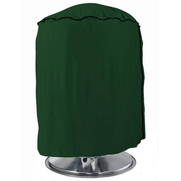 Groene barbecue beschermhoes rond - 50 x 80 cm - bbq hoes