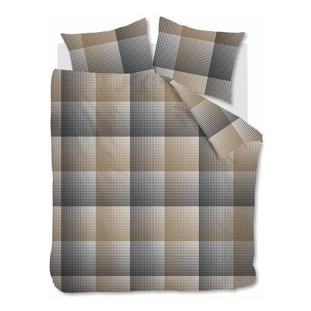 Beddinghouse Graham flanel dekbedovertrek - Lits-jumeaux (240x200/220 cm + 2 slopen) - Flanel - Anthracite