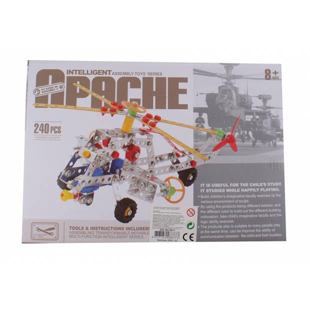 Jonotoys bouwpakket intelligent apache 240-stuks zilver