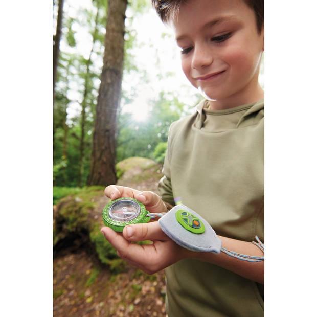 Haba Terra Kids zakkompas 4.7 cm groen/grijs