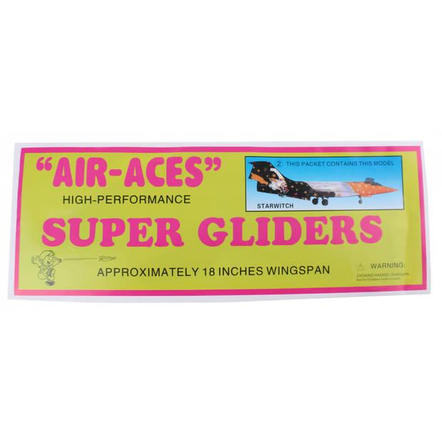 Jonotoys vliegtuig foam air-aces super starwitch 45 cm zwart