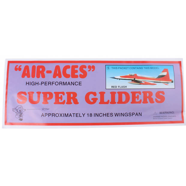 Jonotoys vliegtuig foam air-aces super red flash 45 cm rood