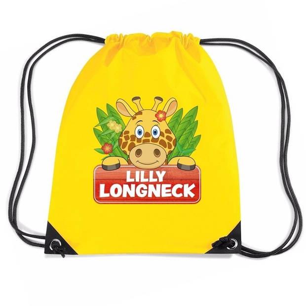 Giraffe Lilly Longneck rijgkoord rugtas / gymtas - geel - 11 liter - voor kinderen