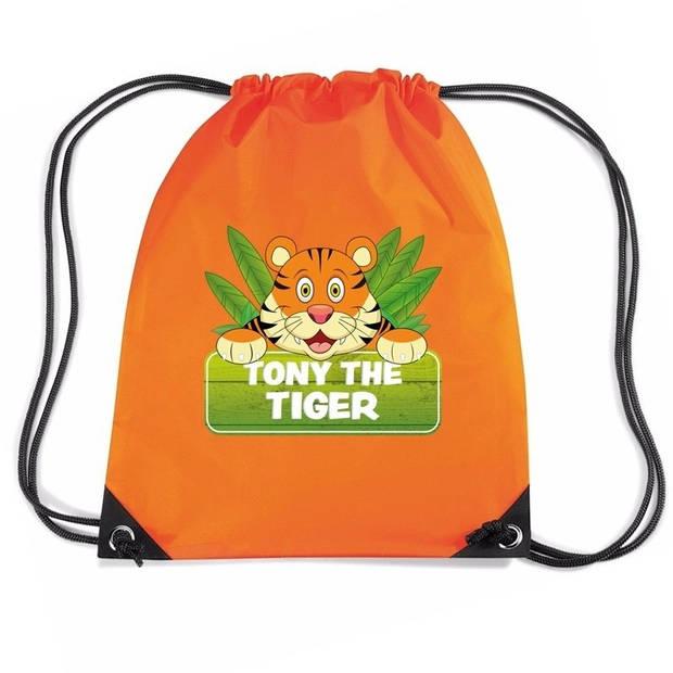 Tony the Tiger tijger rijgkoord rugtas / gymtas - oranje - 11 liter - voor kinderen
