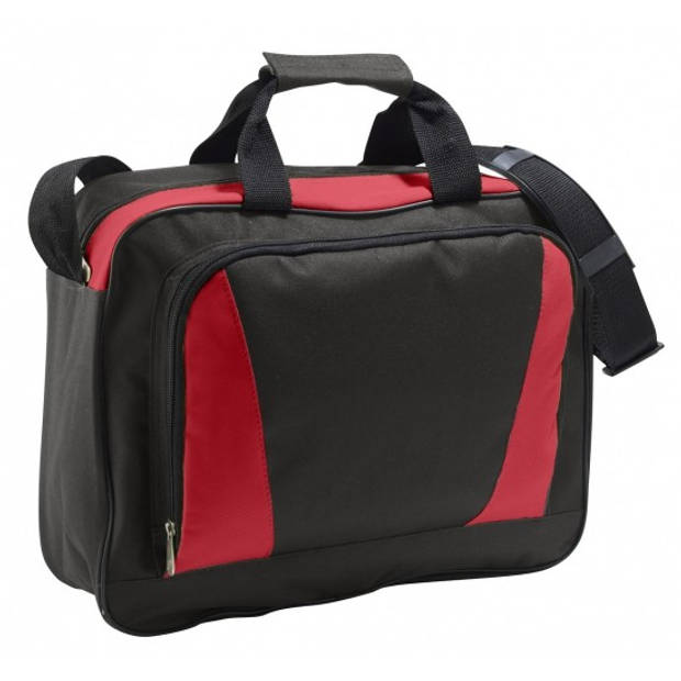 Documenten tas rood/zwart 40 cm
