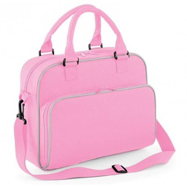 Kindertas meisjes reis/schooltas roze 39 cm - meiden schouder tassen