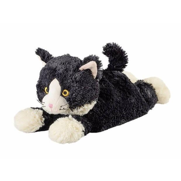 Magnetron knuffel liggende kat - warmte knuffeldier