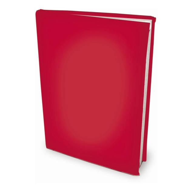 Rekbare boekenkaften - Rood - A4 - 6 stuks