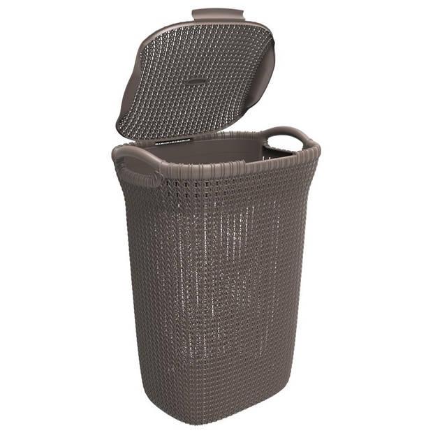 Curver Knit wasbox - 57 liter - harvest brown - set van 2