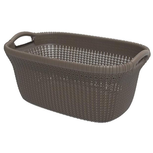 Curver Knit wasbox & heupwasmand - harvest brown