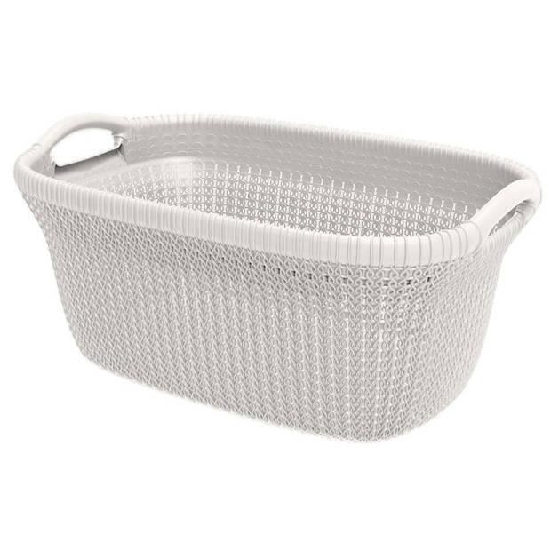 Curver Knit wasbox & heupwasmand - oasis white