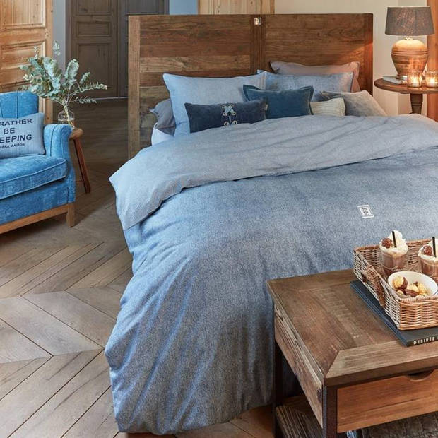 RiviËra Maison Rivièra Maison Gingham dekbedovertrek - Lits-jumeaux (240x200/220 cm + 2 slopen) - Katoen - Blue
