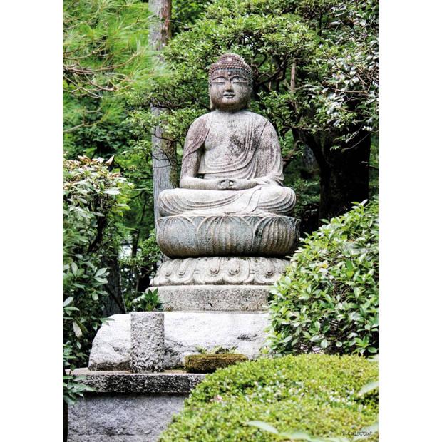 Tuinschilderij Buddha Sitting 70x130cm