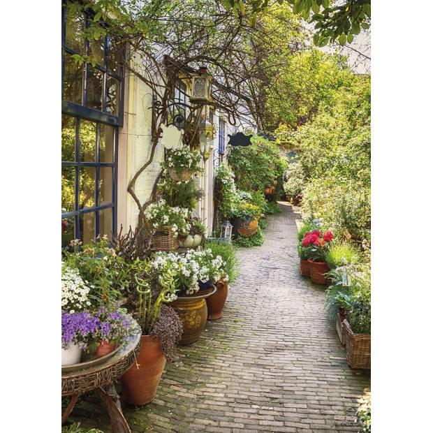 Tuinschilderij Flower Alley 70x130cm