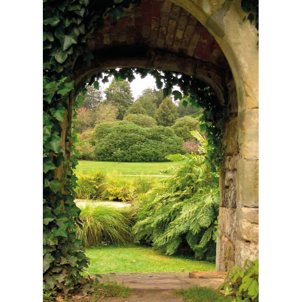 Tuinschilderij Garden view 70x130cm