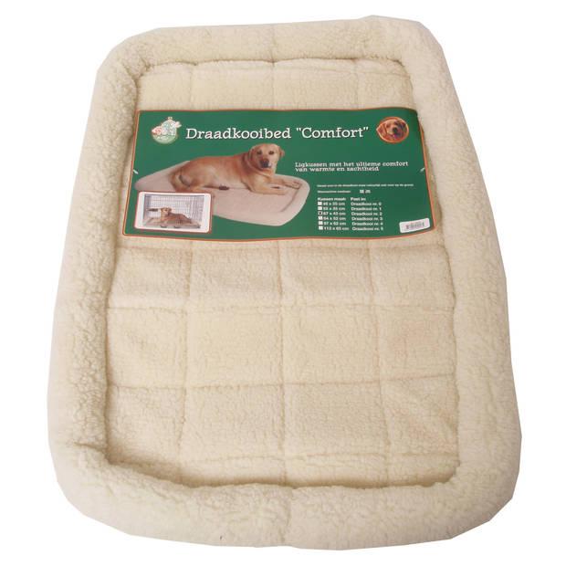 Draadkooibed comfort ivoor 67 x 43 cm
